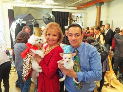 Mommy and I had such a wonderful time wiff Uncle Anthony and the boys at a Holiday Photo Shoot with Mary Ellen Mark..she said I was a natural hee hee Hugs from Bella Mia xoxo