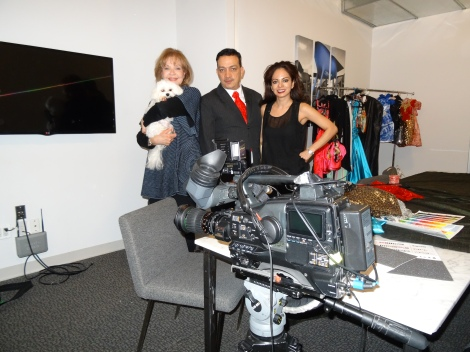 Bella Mia filming for a new TV show with Anthony Rubio