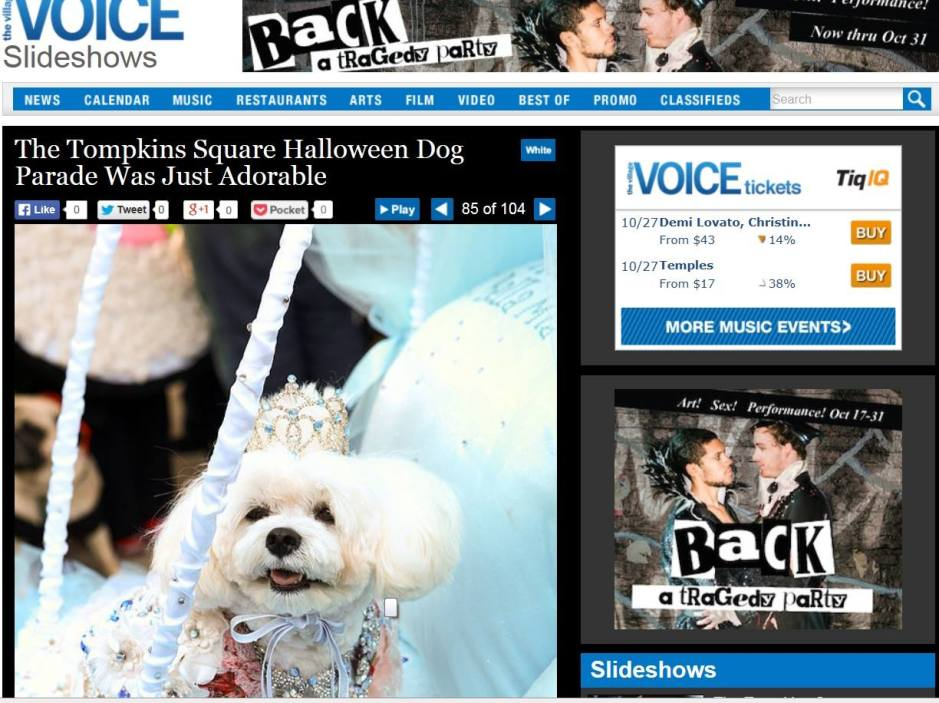 Bella Mia featured in The Village Voice